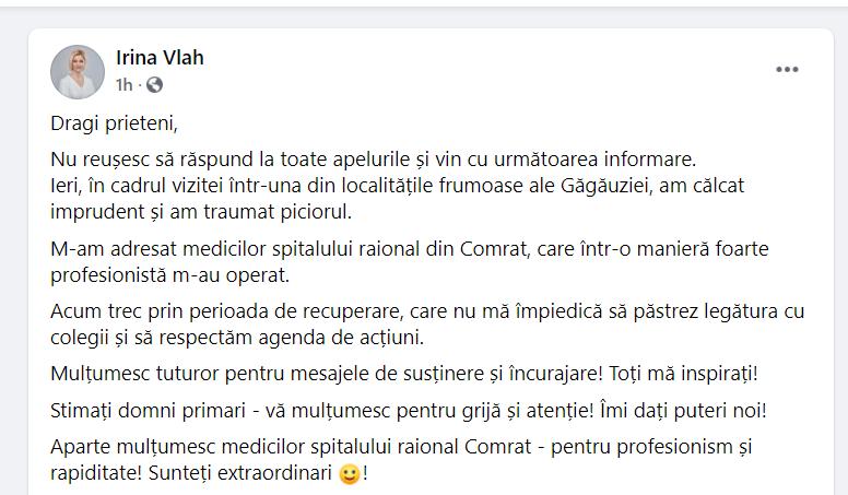 Foto Bașcanul Găgăuziei, spitalizată după o vizită de lucru în teritoriu 2 17.10.2021