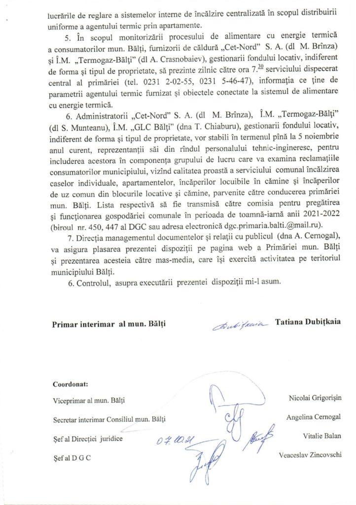 Foto /DOC/ În municipiul Bălţi a fost dat startul sezonului de încălzire 3 27.10.2021