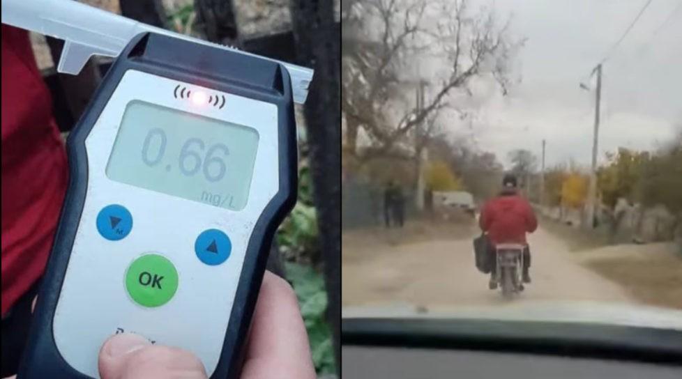 Foto /VIDEO/ Beat, neechipat și fără permis de conducere. Isprava unui motociclist din raionul Rîșcani 5 26.10.2021