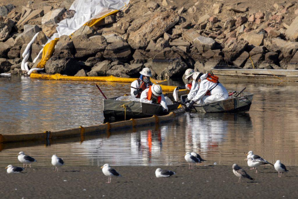 Foto /FOTO/Sute de pești și păsări moarte, pe o plajă din California, după o scurgere de petrol de proporții istorice 5 27.10.2021