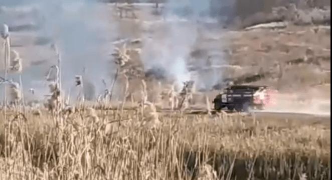 Foto /VIDEO/ Incendiu de vegetație la Bălți 6 26.10.2021