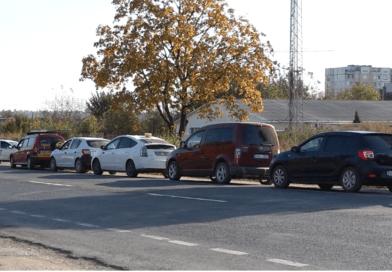 Foto /ВИДЕО/ Водители из Бельц часами стоят в очереди, чтобы заправить авто метаном 6 17.10.2021